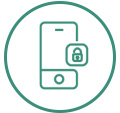 icon secure mobile