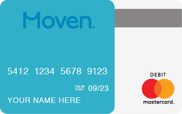 Moven Prepaid Mastercard card art