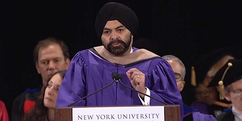 Mastercard CEO speaking at NYU